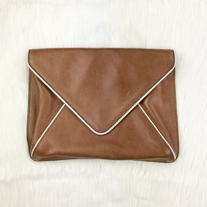 BR Leather Envelope Clutch